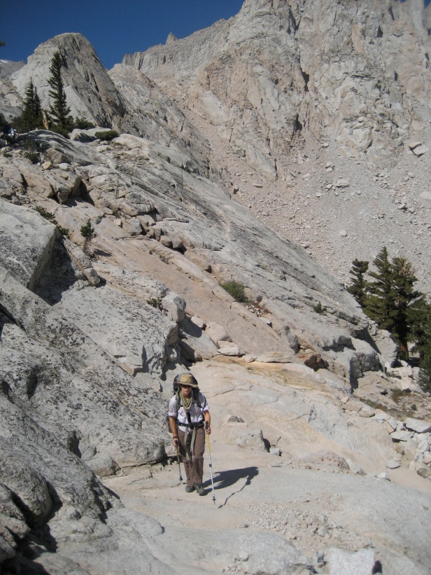 Mt. Whitney Trail between Boy Scout Camp and Trail Camp. August, 2009.