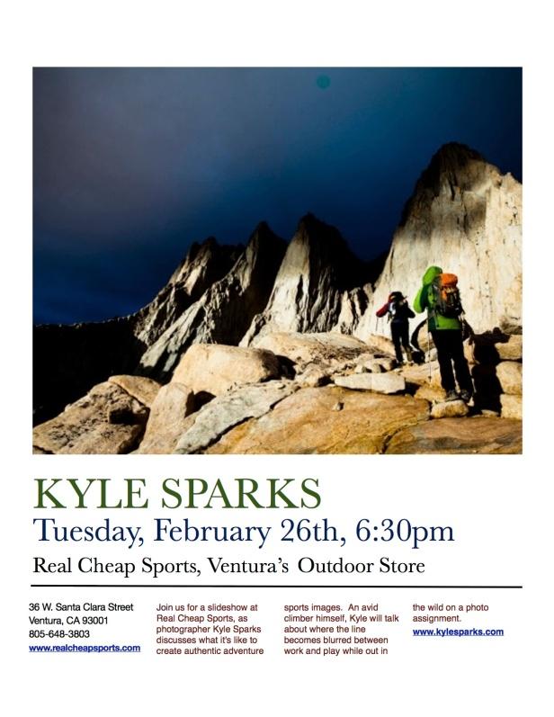 Kyle Sparks, Adventure Sports Photographer- Slideshow Event