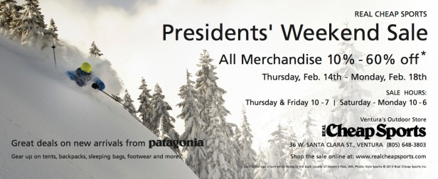 Presidents' Weekend Sale
