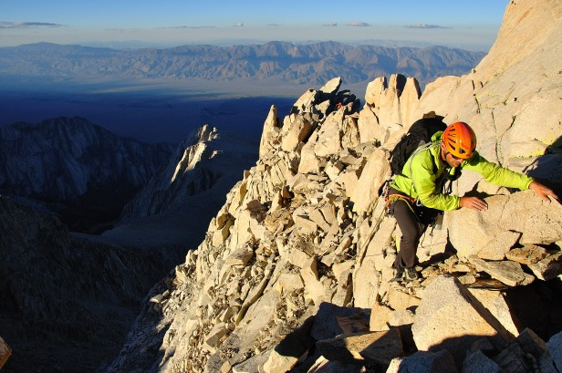 Carl Erickson on Mount Irvine. Photo: Greg Esser